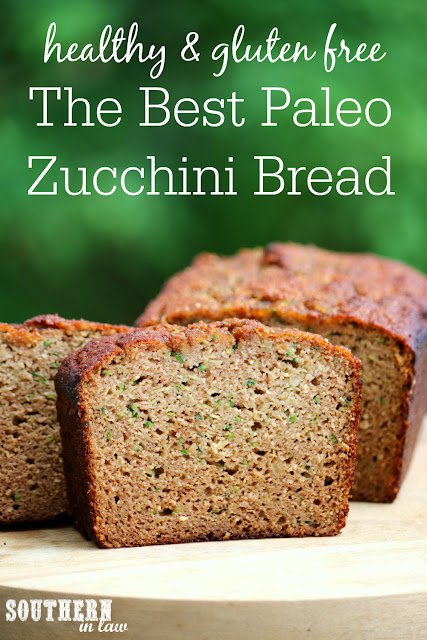 The Best Healthy Paleo Zucchini Bread Recipe - low fat, gluten free, low sugar, refined sugar free, low carb, dairy free, grain free, paleo recipes