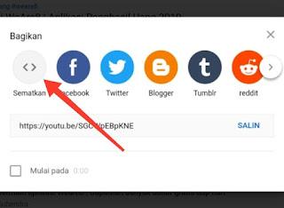 Cara Memasukkan Video Youtube Ke dalam Postingan Blog