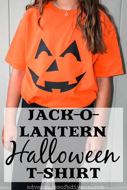 diy jack-o-lantern t-shirt