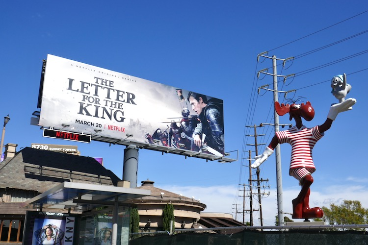 Letter for the King Netflix billboard West Hollywood