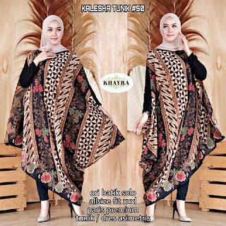 Batik Tunik Kalesha Paris Dress Asimetris kode50