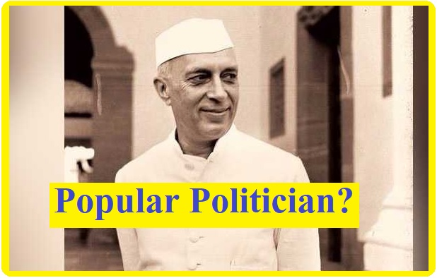 Who was 1st popular politician in India?