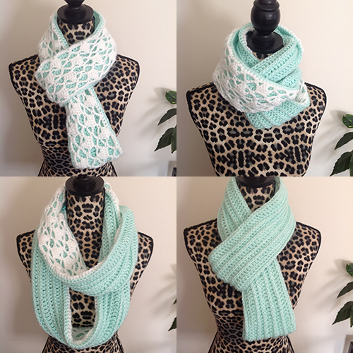Snow Drops Reversible Cowl Free Crochet Pattern
