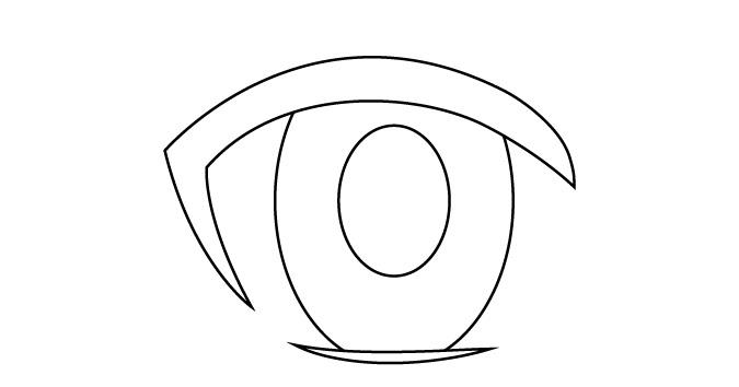 Murid mata anime wanita