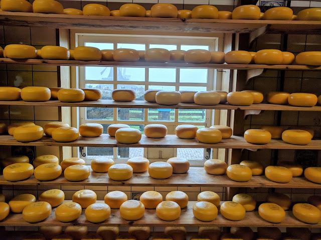 Lots of cheese at Catharina Hoeve Cheese Farm