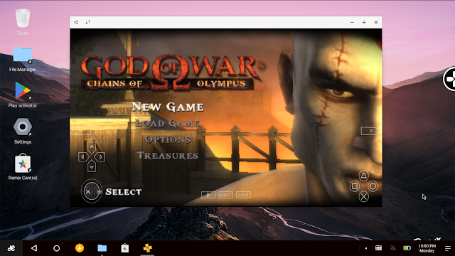 RemixOS - Emulator PPSSPP - God of War - Chain of Olympus
