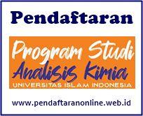 Pendaftaran UII Program Studi D3 Analisis Kimia