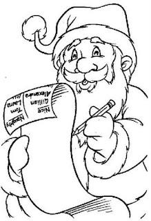 Desenho Papai noel colorir