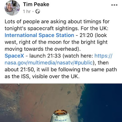 Tim Peake Tonight Space