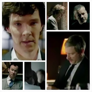 BBC Sherlock Season 3 teaser trailer - Benedict Cumberbatch returns as Sherlock Holmes and Martin Freeman as moustached John Watson