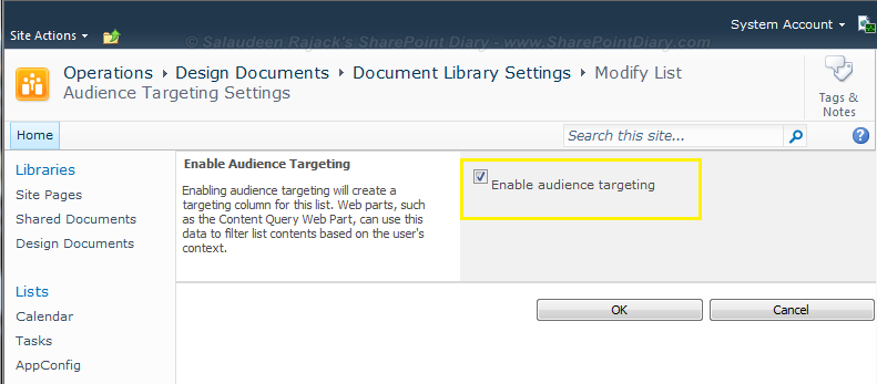 sharepoint 2010 audience targeting