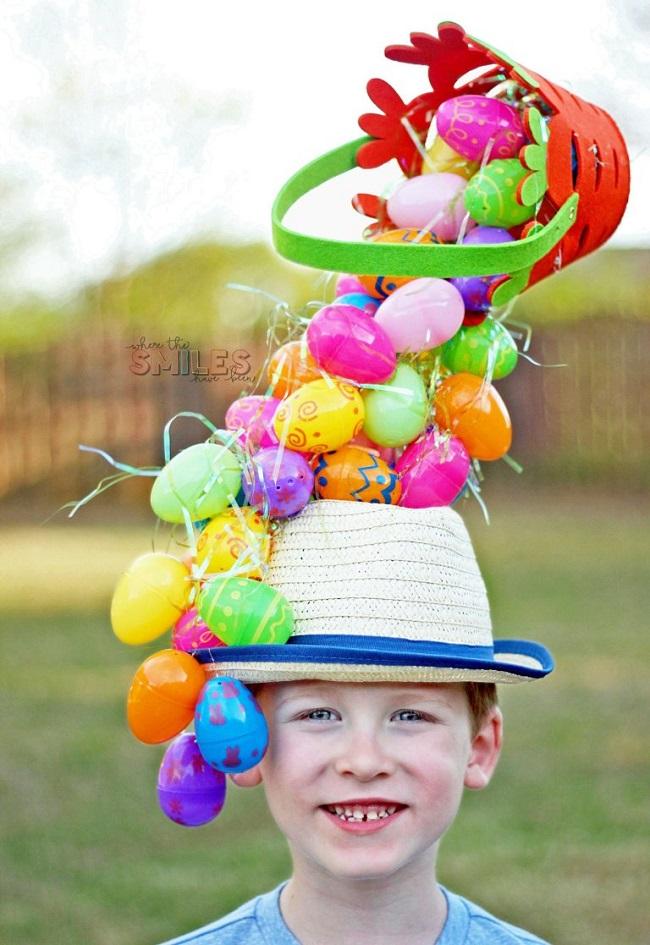 plastic egg easter hat