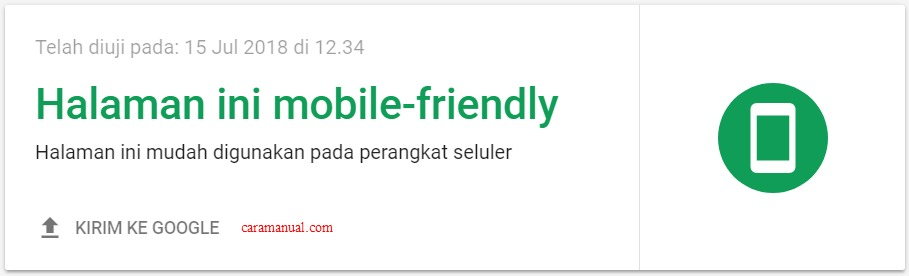 Halaman website mobile-friendly