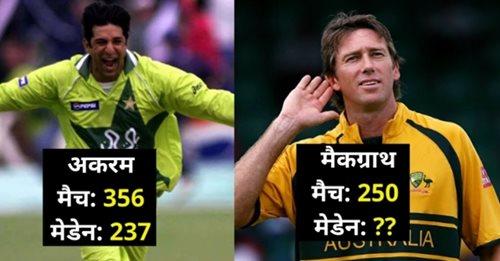 50 ओवर के मैच में सबसे ज्यादा मेडन ओवर डालने वाले टॉप-4 गेंदबाज