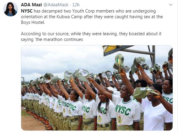 NYSC Corpers Decamped