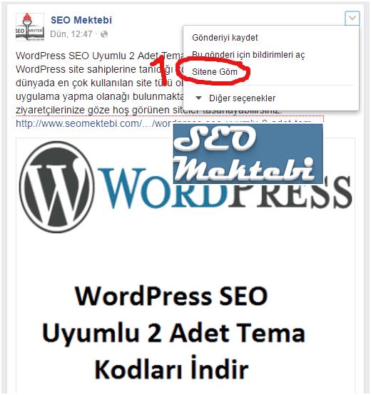 Facebook Beğenilen Bir Yazının Embed Kodunu Blogger Sayfasına Ekleme