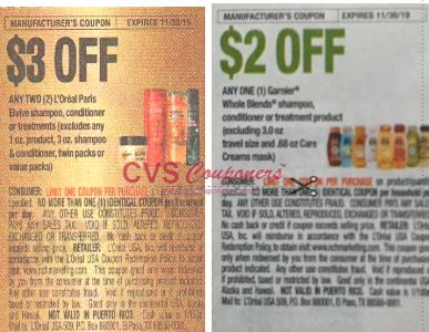 garnier and loreal coupons