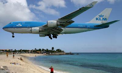 O fantástico aeroporto Princesa Juliana - Caribe