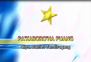 Lirik Lagu Pa'kaboro'na Puang (Daniel Tandirogang)
