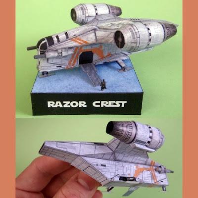 Razor Crest Papercraft