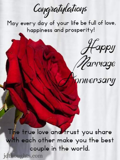 Simple marriage anniversary wishes for couple
