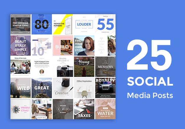 25 social media instagram blog posts psd files