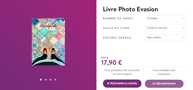 code promo pour livre photo