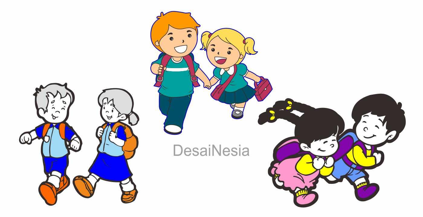 download gambar anak sekolah cdr gratis