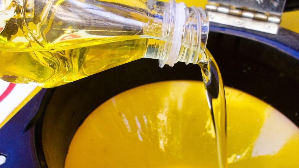 raccolta di olio vegetale domestico esausto
