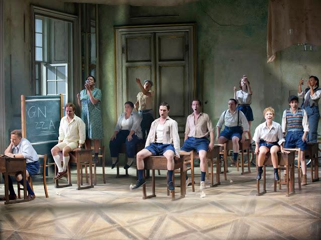 Puccini: Manon Lescaut: Peter Auty, Kamil Bien, chorus - The Grange Festival (Photo Simon Annand)