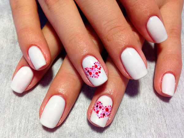 Glass mosaic heart nail art! - Valentine's Special Nail Art: Wear Your Heart On Your Nails