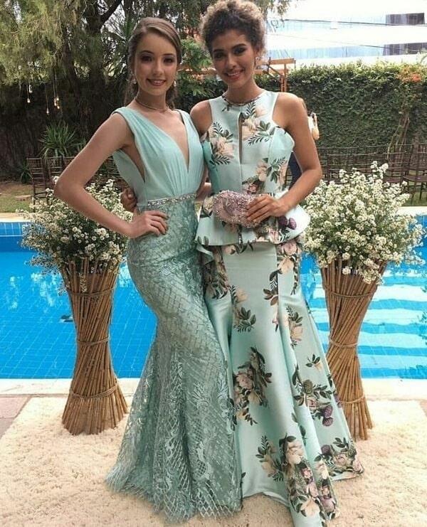 vestidos verde claro para madrinhas de casamento paleta