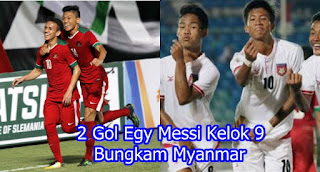 2 Gol Egy Messi Kelok 9 Bungkam Myanmar