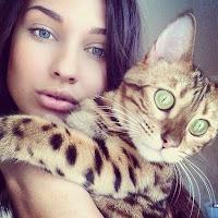 صور خلفيات بنات مع قطط كيوت جديده 2018