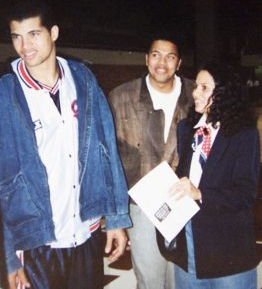 Picture of Bison Dele with his friends
