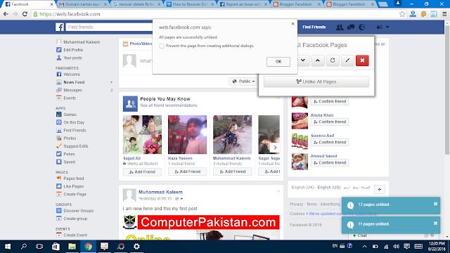 Facebook Page Unlike  ok - Facebbok