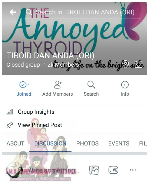 Group support thyroid : Group Facebook TIROID DAN ANDA (ORI).