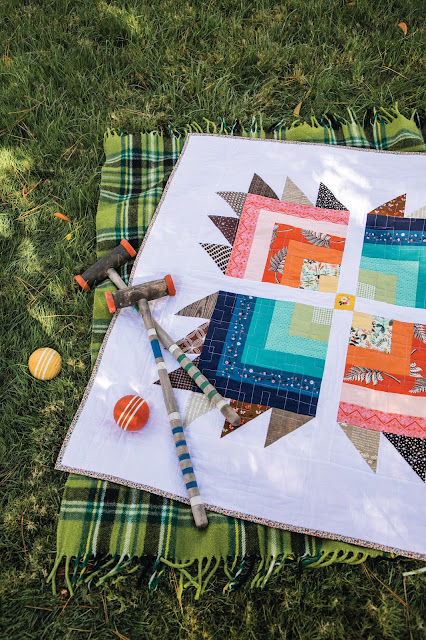 Big Bear Cabin Quilt from Patchwork USA by Heidi Staples of Fabric Mutt (Photo by Page + Pixel for Lucky Spool Media)