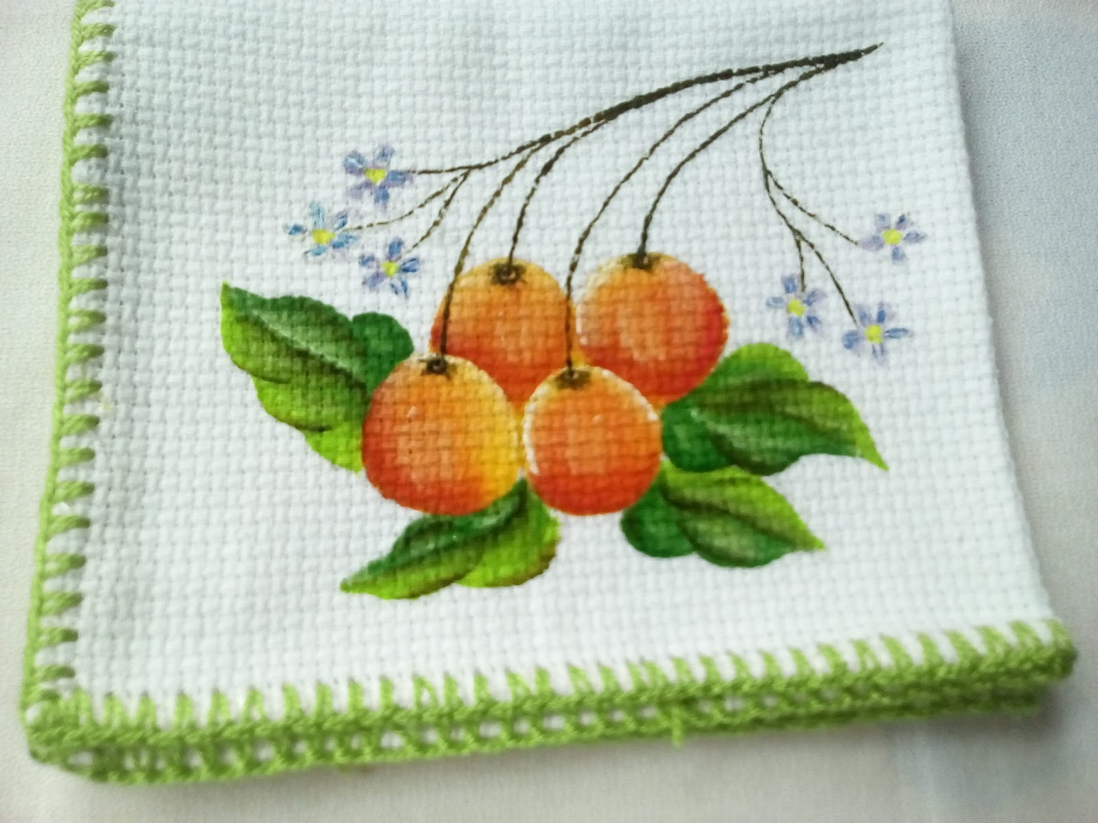 Arte en tela pintura bordados y tejidos per for Tela para manteles de mesa