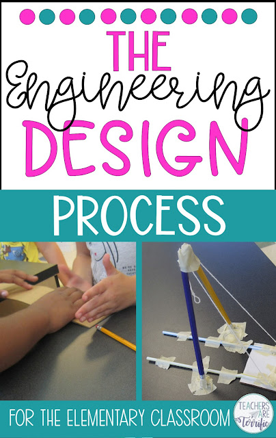 The Engineering Design Process is the heart of STEM.  This blog post will answer all your questions and the EDP with elementary students. #teachersareterrific #STEM #elementary