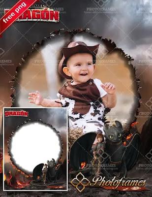 Marco para chico inspirado en la película Como entrenar a tu dragón 2