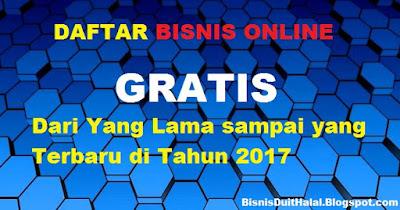 Daftar Bisnis Online gratis 2017