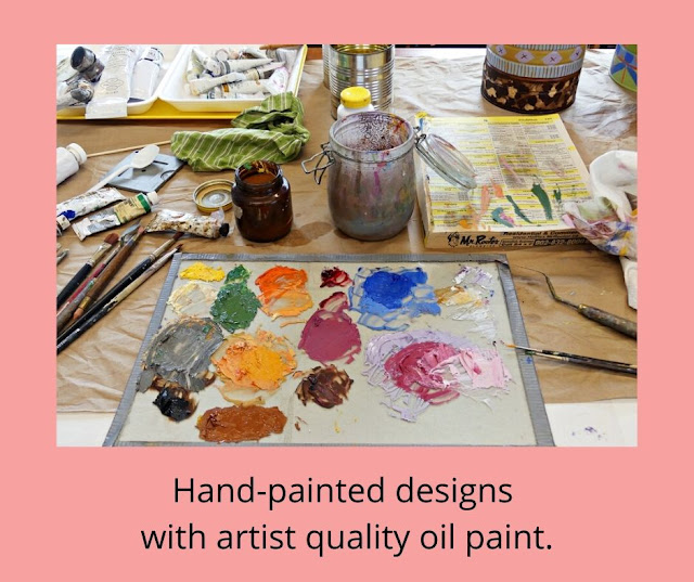 Use artist oil paints for detail painting.
