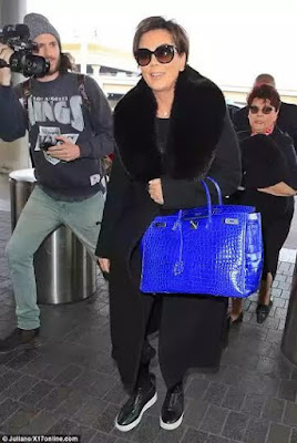 photo of kris jenner $95000 bag