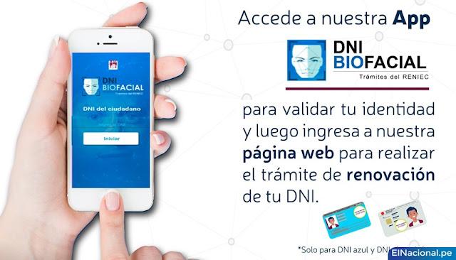 Renovación de DNI desde tu celular por internet