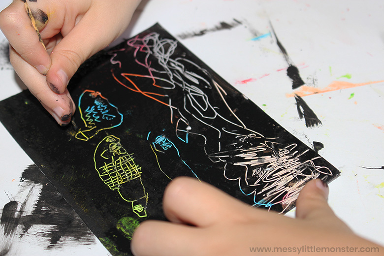easy diy scratch art project for kids