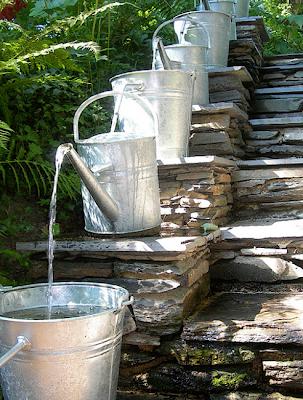 Jolies id es r cup pour le jardin for Fontaine de jardin zinc