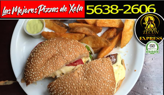 Hamburguesas a Domicilio en Quetzaltenango  Tel: 5638-2606 Tecun Express Xela