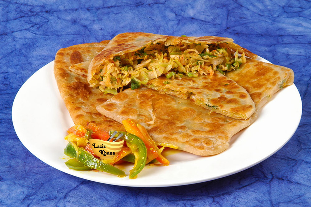 Pizza Paratha Recipe in Hindi