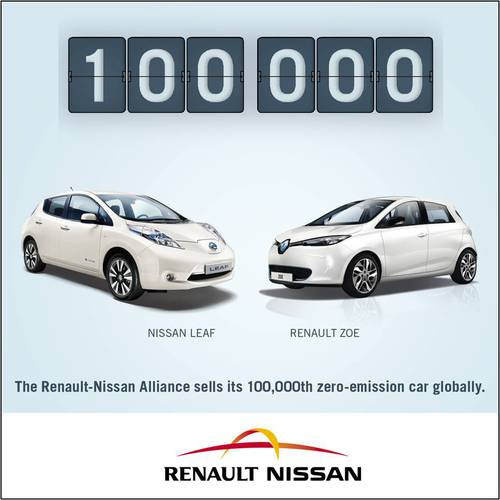 Renault Nissan S Its 100 000th Plug In Electric Car